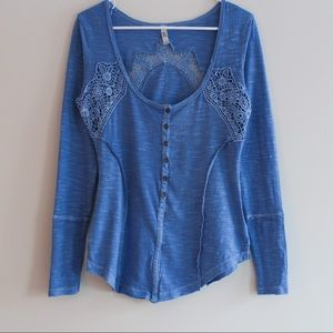 Free People Caged Lace Long Sleeve